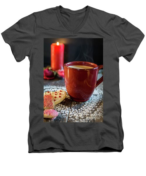 Men's V-Neck T-Shirt featuring the photograph The Warmth Of Our Love by Deborah Klubertanz