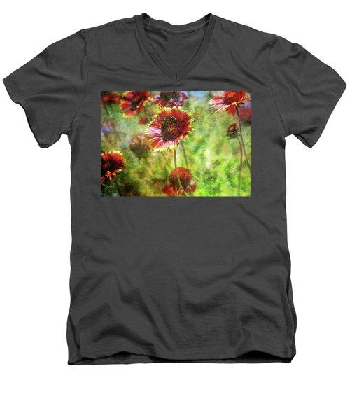 The Wasp On His Blanket 0508 Idp_2 Men's V-Neck T-Shirt