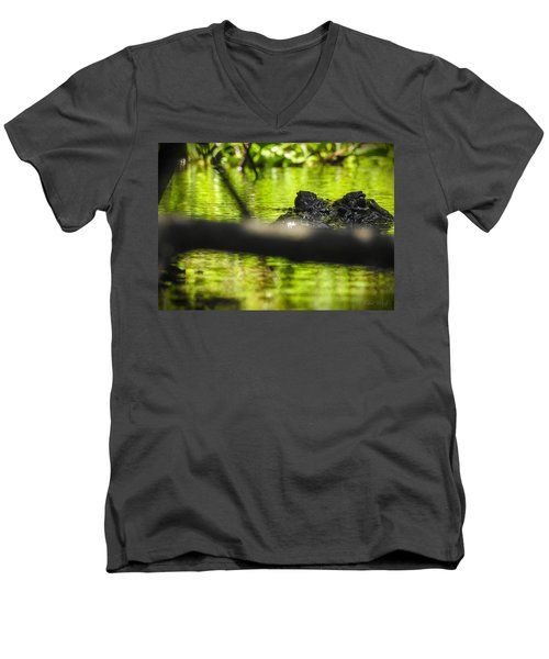 The Watcher In The Water Men's V-Neck T-Shirt