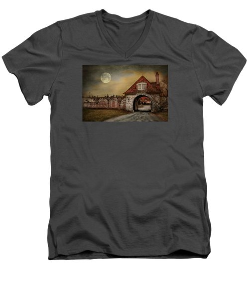 Men's V-Neck T-Shirt featuring the photograph The Watcher by Robin-Lee Vieira