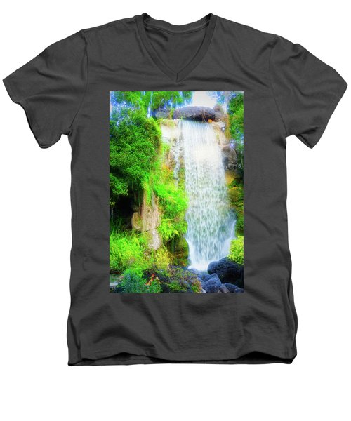 The Water Falls Men's V-Neck T-Shirt
