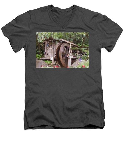 The Water Wheel Keeps Turning ... Men's V-Neck T-Shirt