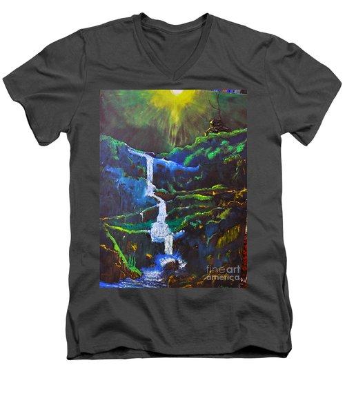 The Waterfall Men's V-Neck T-Shirt