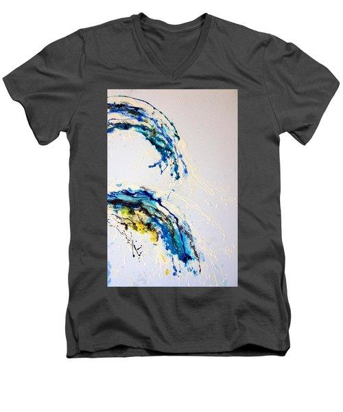 The Wave 3 Men's V-Neck T-Shirt by Roberto Gagliardi