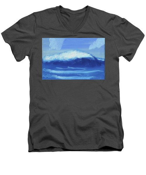 The Wave Men's V-Neck T-Shirt by Artists With Autism Inc