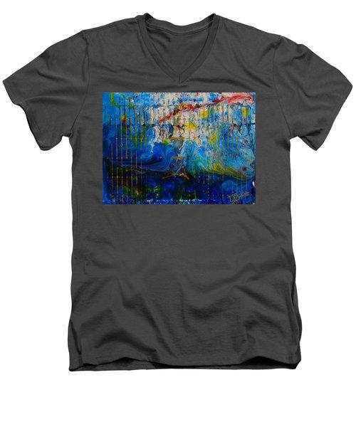 The Sound Wave Men's V-Neck T-Shirt