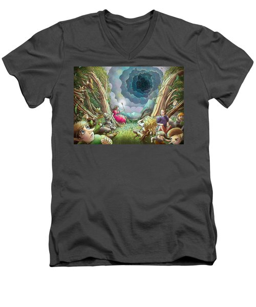 The Wave Of Space And Time Men's V-Neck T-Shirt