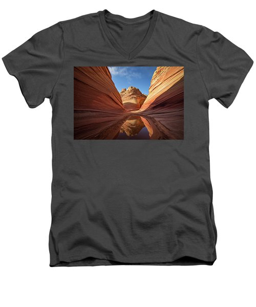 Men's V-Neck T-Shirt featuring the photograph The Wave by Wesley Aston