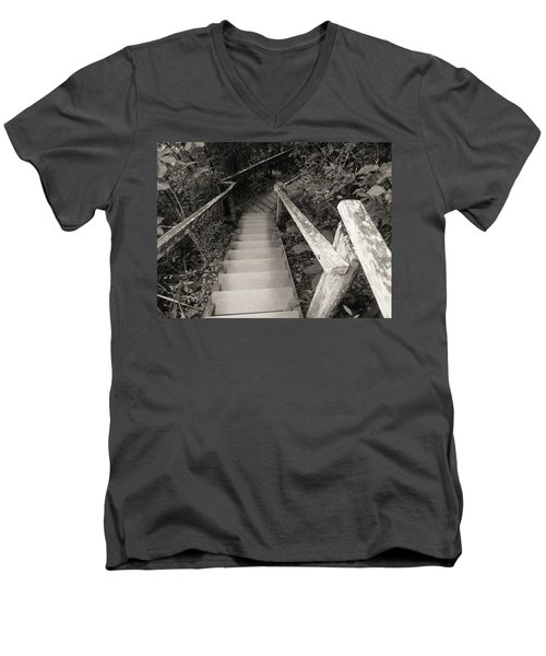 Men's V-Neck T-Shirt featuring the photograph The Way by Beto Machado