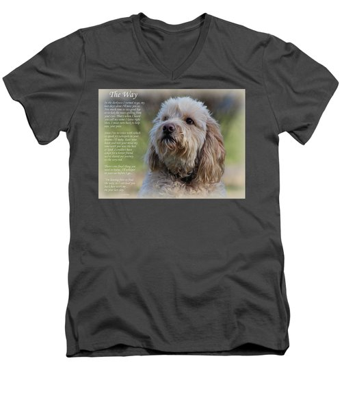 The Way Golden Doodle Men's V-Neck T-Shirt