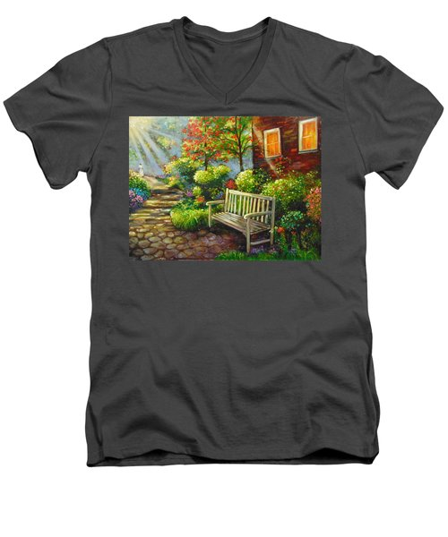 The Way Home Men's V-Neck T-Shirt by Emery Franklin