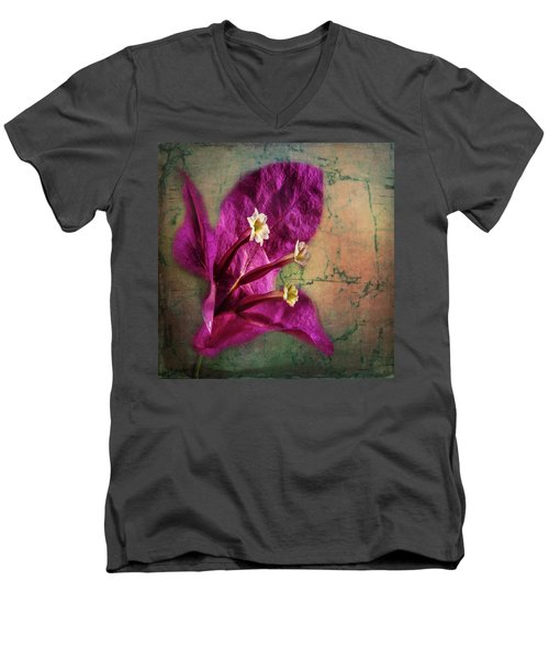 Men's V-Neck T-Shirt featuring the photograph The Well Dressed Bougainvillea by Bellesouth Studio