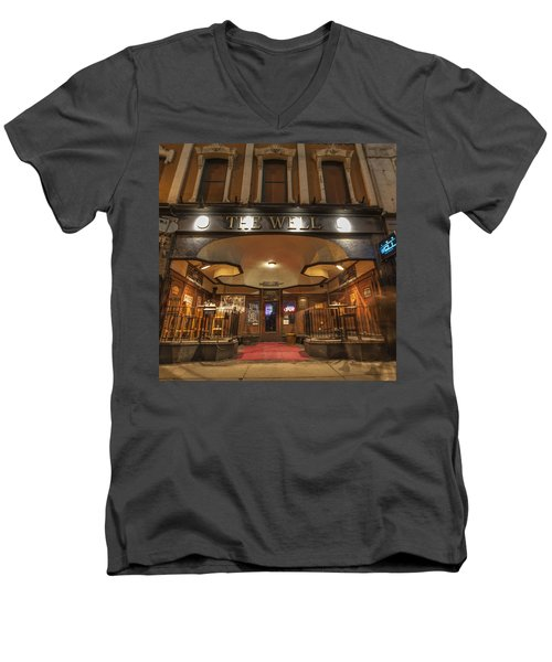 Men's V-Neck T-Shirt featuring the photograph The Well by Nicholas Grunas