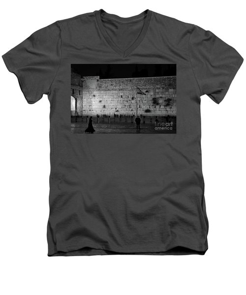 The Western Wall, Jerusalem Men's V-Neck T-Shirt