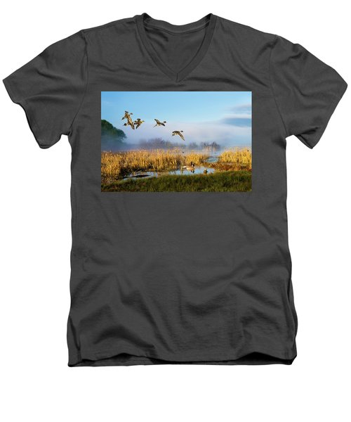 The Wetlands Crop Men's V-Neck T-Shirt