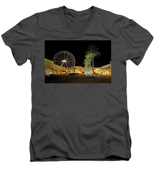 The Wharf At Night  Men's V-Neck T-Shirt