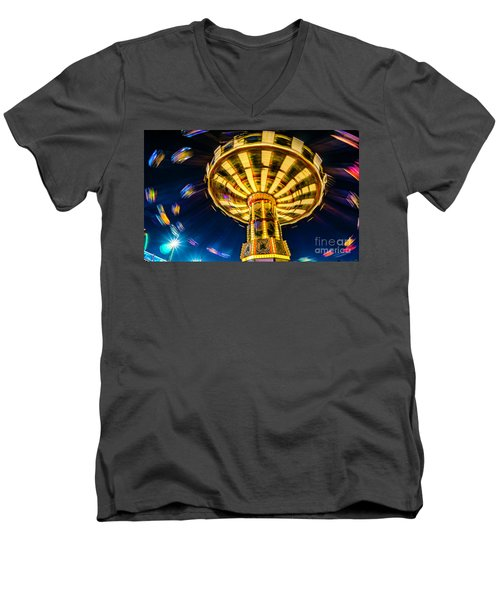 The Wheel Men's V-Neck T-Shirt by David Smith