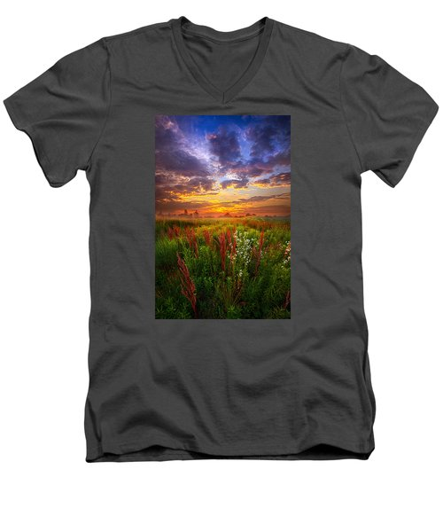 The Whispered Voice Within Men's V-Neck T-Shirt by Phil Koch