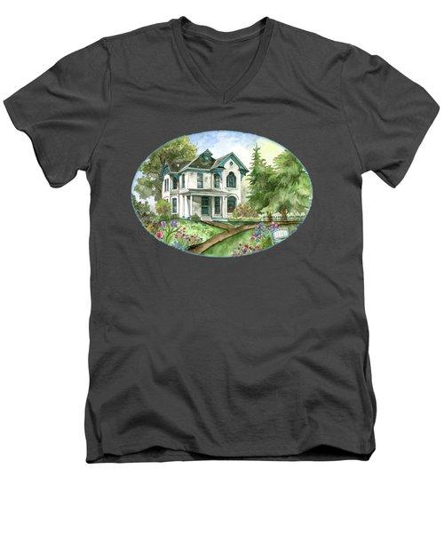 The White Farmhouse Men's V-Neck T-Shirt