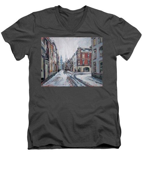 The White Grand Canal Street Maastricht Men's V-Neck T-Shirt