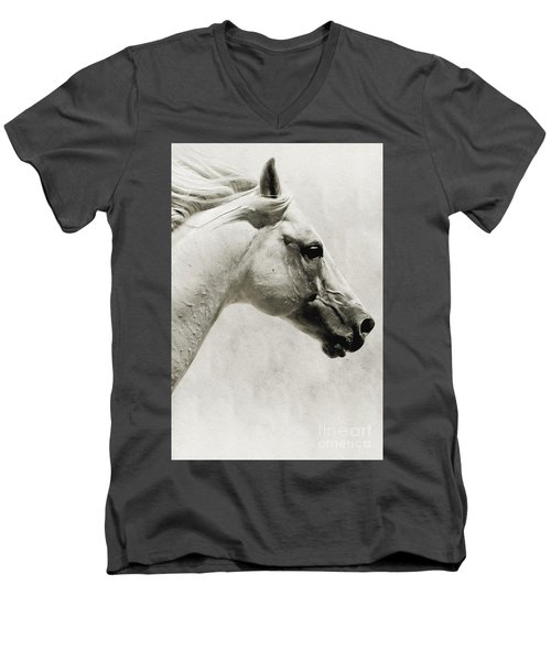 The White Horse IIi - Art Print Men's V-Neck T-Shirt