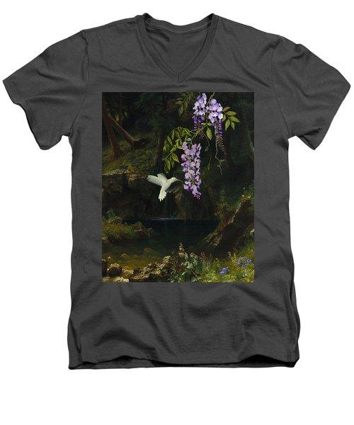 The White Hummingbird Men's V-Neck T-Shirt