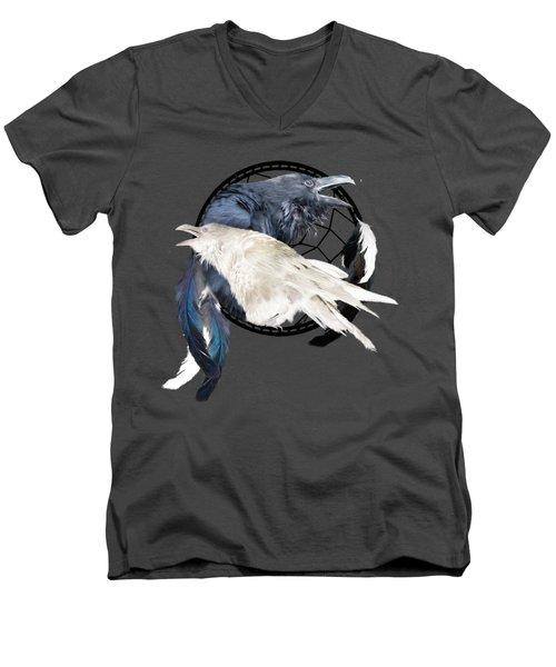 The White Raven Men's V-Neck T-Shirt