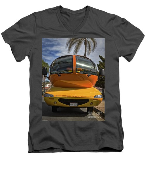 The Wienermobile Men's V-Neck T-Shirt