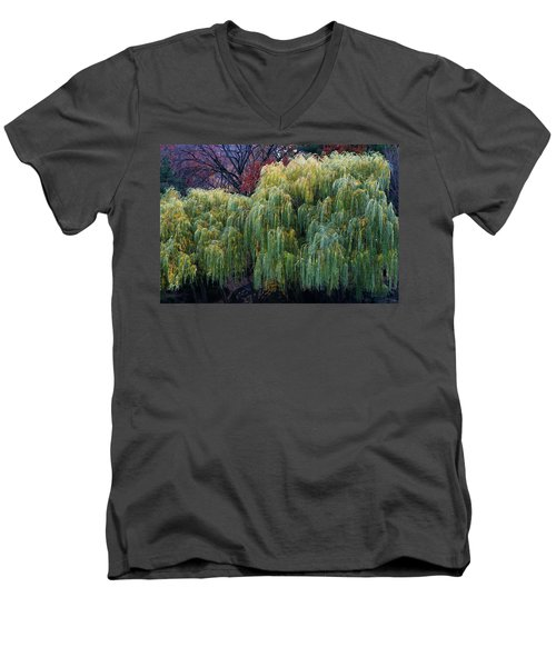 The Willows Of Central Park Men's V-Neck T-Shirt