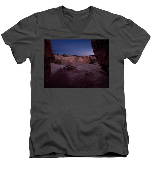 Men's V-Neck T-Shirt featuring the photograph The Window In Desert by Edgars Erglis