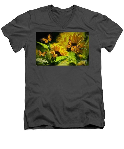 The Wings Of Transformation Men's V-Neck T-Shirt