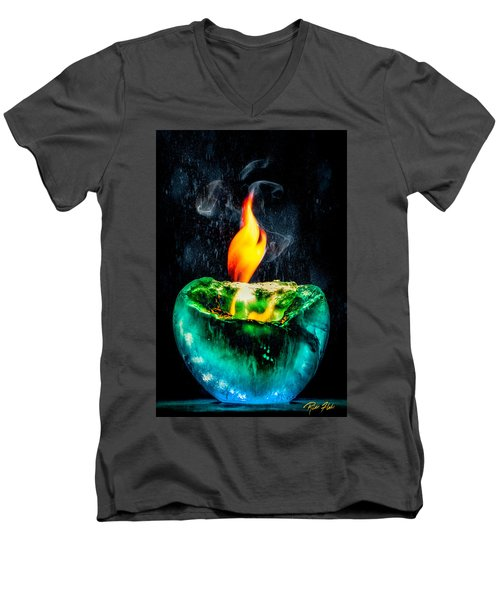 The Winter Of Fire And Ice Men's V-Neck T-Shirt