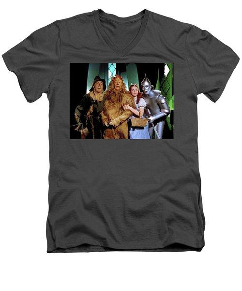 The Wizard Of Oz  Quartet Eric Carpenter Publicity Kodachrome 1939 Men's V-Neck T-Shirt