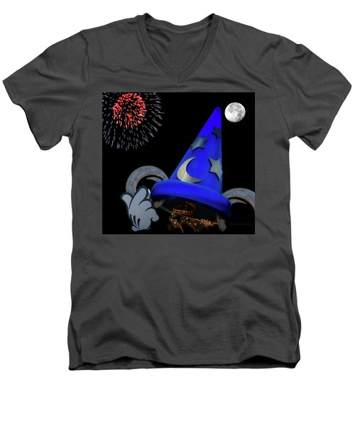 The Wizard Walt Disney World Mp Men's V-Neck T-Shirt by Thomas Woolworth