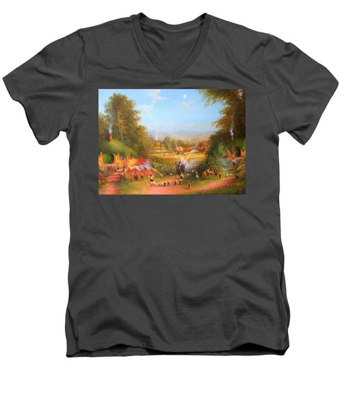 The Wizards Arrival Men's V-Neck T-Shirt