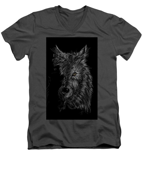 The Wolf In The Dark Men's V-Neck T-Shirt