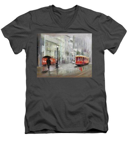 The Woman In The Rain Men's V-Neck T-Shirt