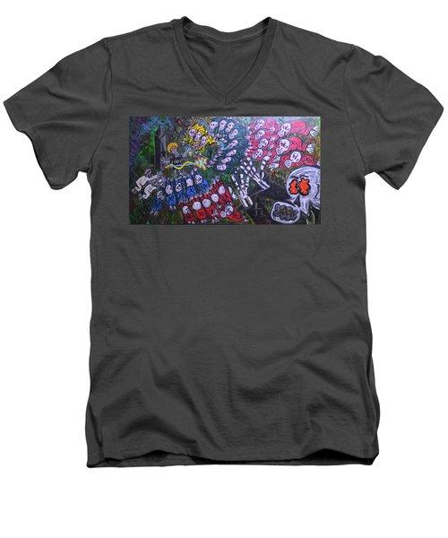 The Wooorship Men's V-Neck T-Shirt