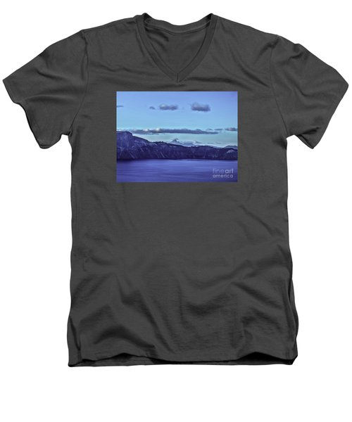 Men's V-Neck T-Shirt featuring the photograph The World Beyond by Nancy Marie Ricketts
