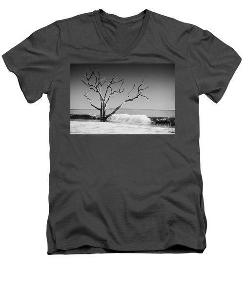 Men's V-Neck T-Shirt featuring the photograph The World Is Coming Down II by Dana DiPasquale