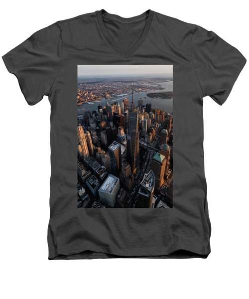 The World Trade  Men's V-Neck T-Shirt