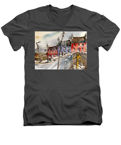 The Yellow Pump, Eyeries, Cork Men's V-Neck T-Shirt