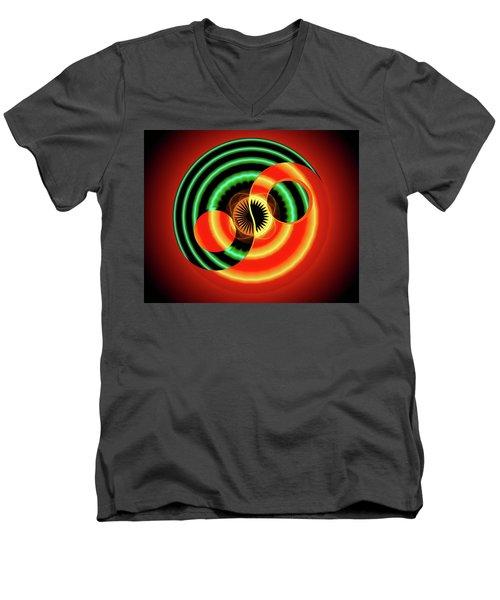 The Yin And The Yang Men's V-Neck T-Shirt by Mario Carini