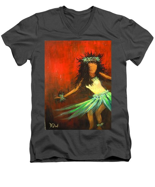 The Young Dancer Men's V-Neck T-Shirt by Dan Whittemore