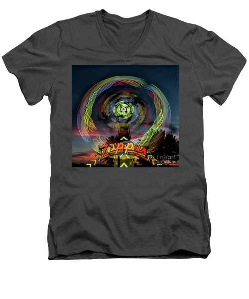 The Zipper Motion Art By Kaylyn Franks Men's V-Neck T-Shirt