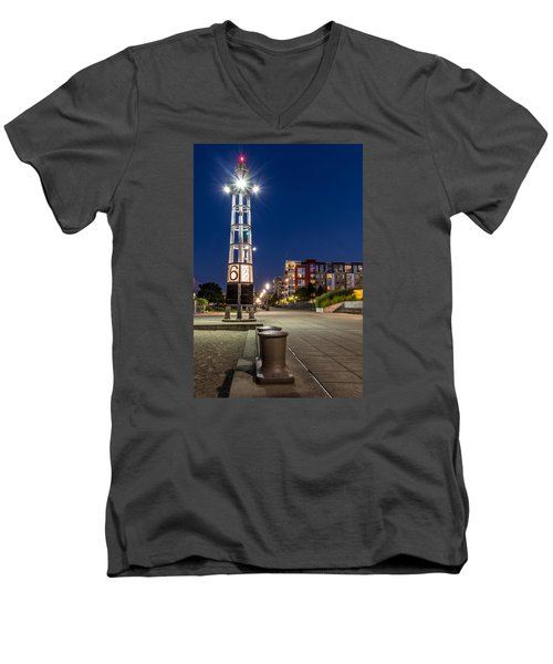 Thea's Landing Boardway During Blue Hour Men's V-Neck T-Shirt by Rob Green