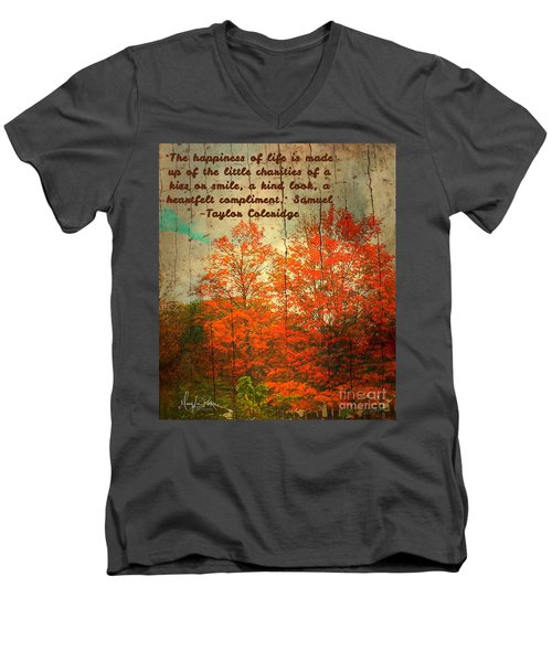 The Happiness Of Life By Taylor Coleridge Men's V-Neck T-Shirt