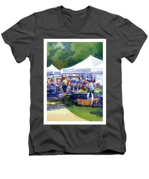 Theinsville Farmers Market Men's V-Neck T-Shirt