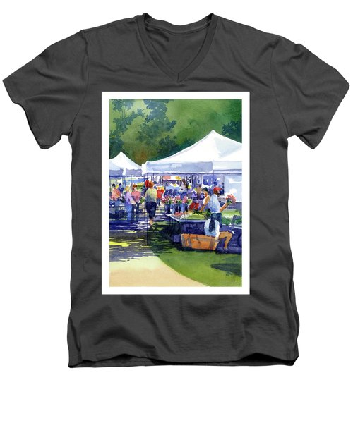 Theinsville Farmers Market Men's V-Neck T-Shirt