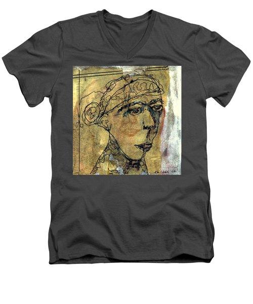 Thelma Men's V-Neck T-Shirt by A K Dayton